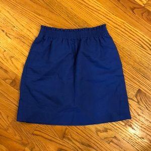 Cobalt Blue J Crew Sidewalk Skirt